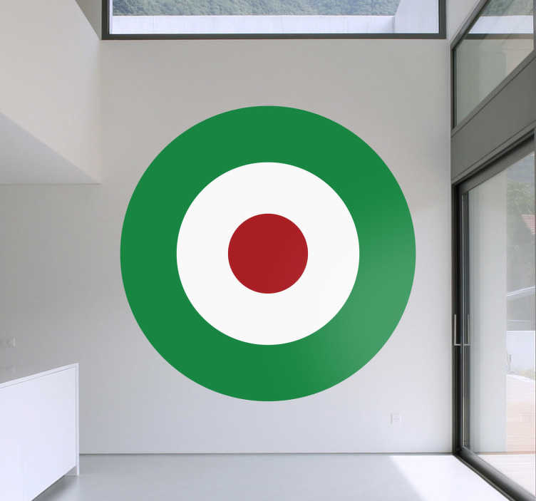 Sticker rond rood wit groen - TenStickers