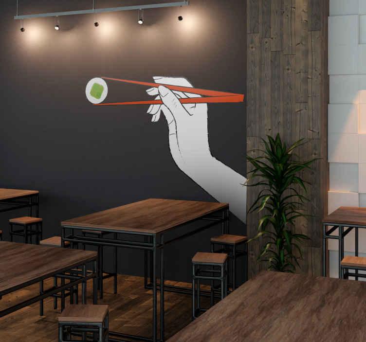 Sticker sushi baguettes
