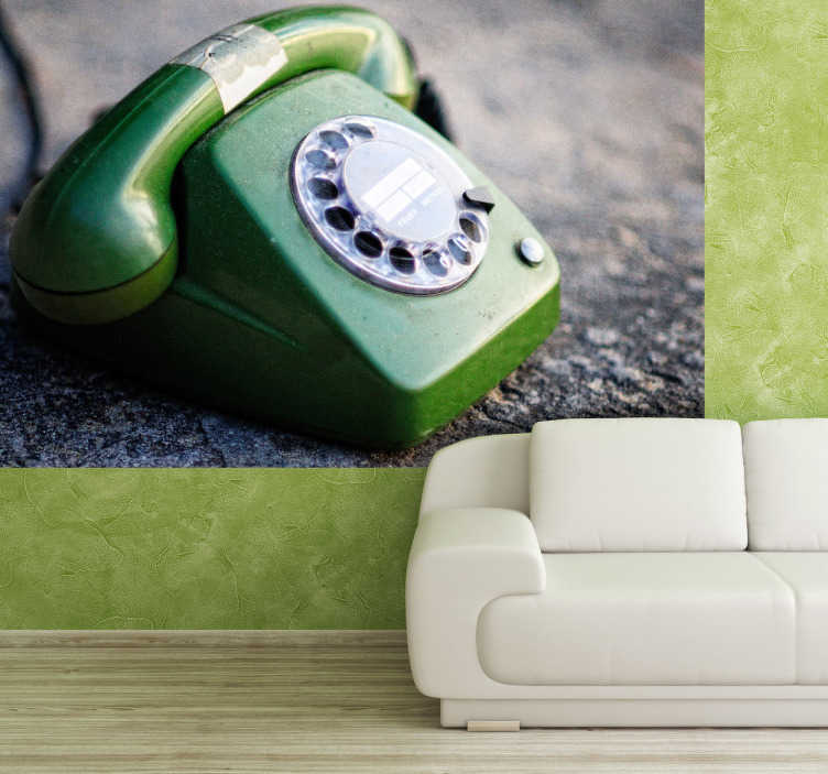 TenStickers. Classic Phone Photography Wall Mural. Photo Murals - Classic and contempory photography art of the iconic telephone. Ideal for decorating any room in the home or business.