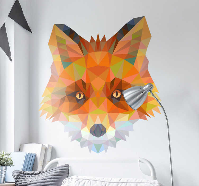 Geometric Fox Head Decal