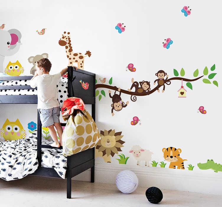 Naklejka Na ścianę Dla Dzieci Dżungla Tenstickers