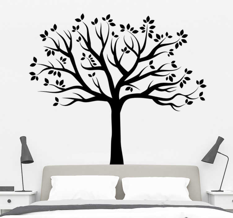TenStickers. Silhouette Autumn Tree Wall Sticker. Tree Wall Stickers - Elegant monochrome design showing the silhouette of a tree. Anti-bubble vinyl. High quality vinyl used.