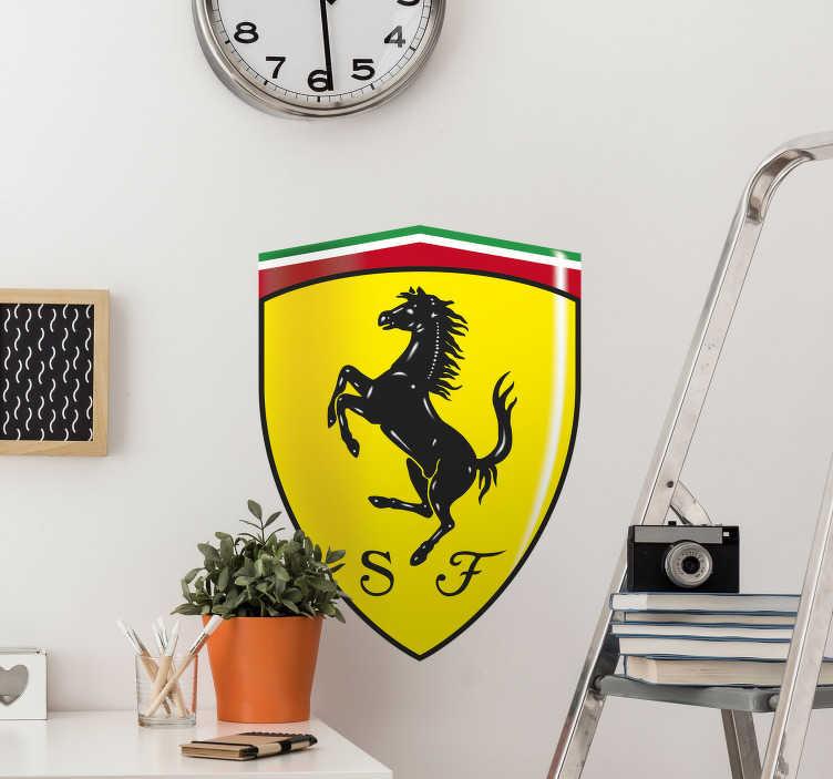TenStickers. Ferrari sticker voor auto´s. Autosticker van het merk Ferrari. Deze decoratie Ferarri sticker is perfect voor iedere auto fan. Autsticker ferarri is een leuk idee voor iedereen!