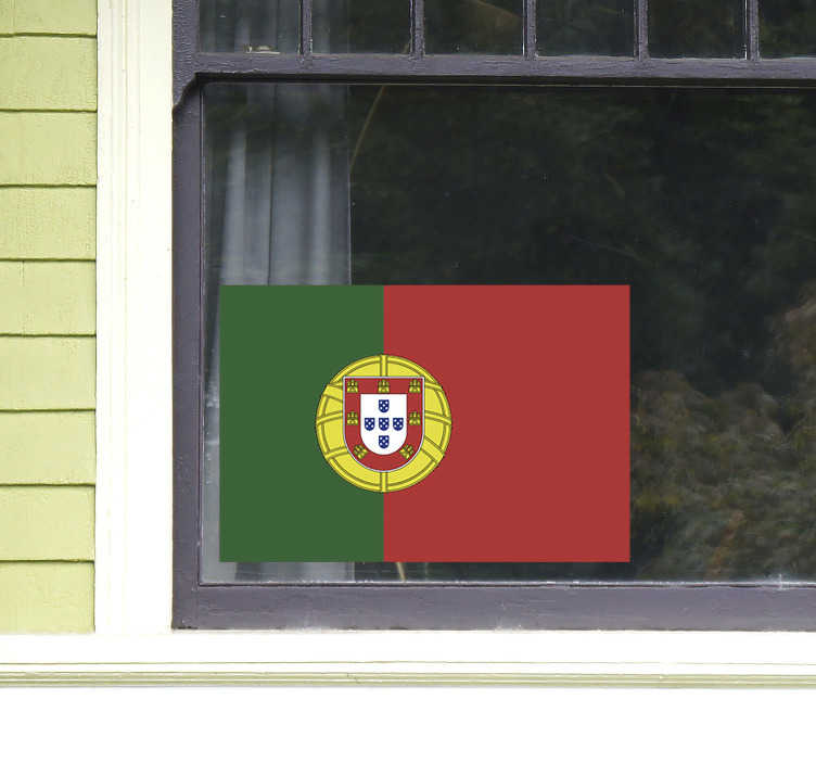 TenStickers. Portugal flag decal. Portuguese flag wall decal to decorate your space with pride. It is available in any required size and it application is easy.