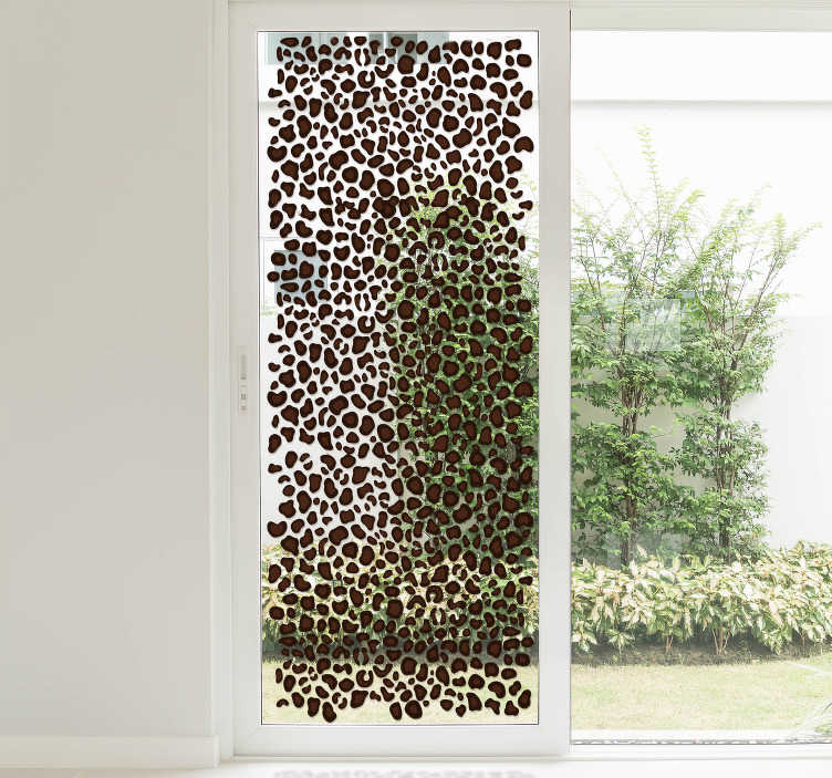 TenStickers. Leopard Skin Home Sticker. Decorate your home with this fantastic leopard skin design! Choose your size. Easy to apply and remove from flat surfaces.