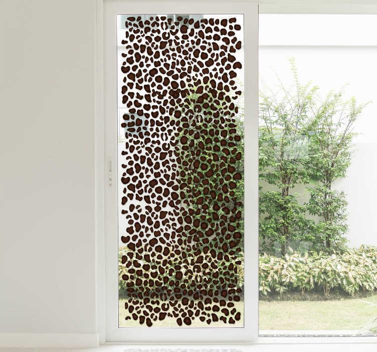 TenStickers. Nalepka za kožo domov leoparda. Okrasite svoj dom s tem fantastičnim dizajnom kože leoparda! Izberite svojo velikost.