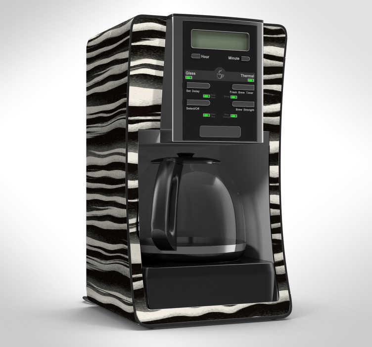 Tenstickers. Klistermärke för zebra hudmöbler. Dekorera ditt hem med denna fantastiska zebra tema möbler klistermärke! +10 000 nöjda kunder.