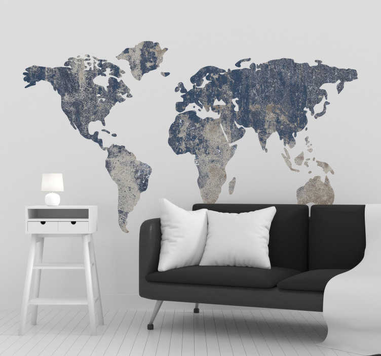 TenStickers. Gemstone World Map Wall Sticker. Decorate your wall with this fantastic gemstone style world map wall sticker! Sign up for 10% off.