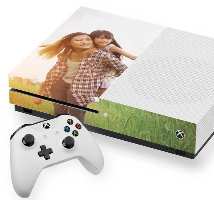 TenStickers. Customisable Xbox Skin. Our custom Xbox skins are perfect for gamers who want an image of their choice on their Xbox. Our skins will give an individual style to your Xbox.