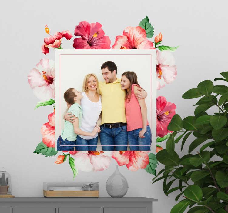 TENSTICKERS. 花のダイニングルームの花壁デカール. あなたのイメージの選択でカスタマイズ可能な装飾的な花の壁アートステッカー。適用は簡単で、必要なサイズで利用できます。