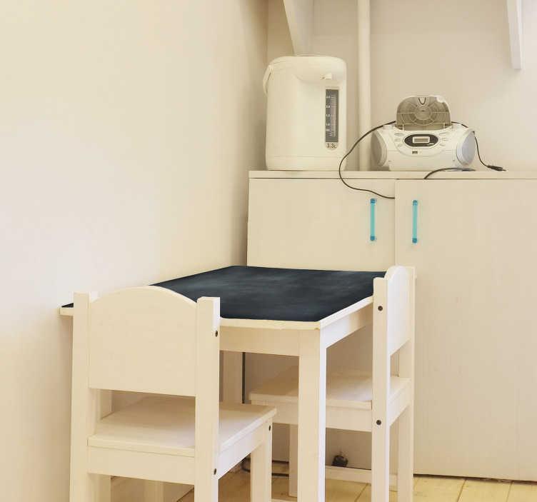 TenStickers. Naklejka na ścianę do biura tablica kredowa na stół. Tablica kredowa na stół przedstawia czarną powierzchnię, po której można pisać! Świetne rozwiązanie dla dzieci i do biura!