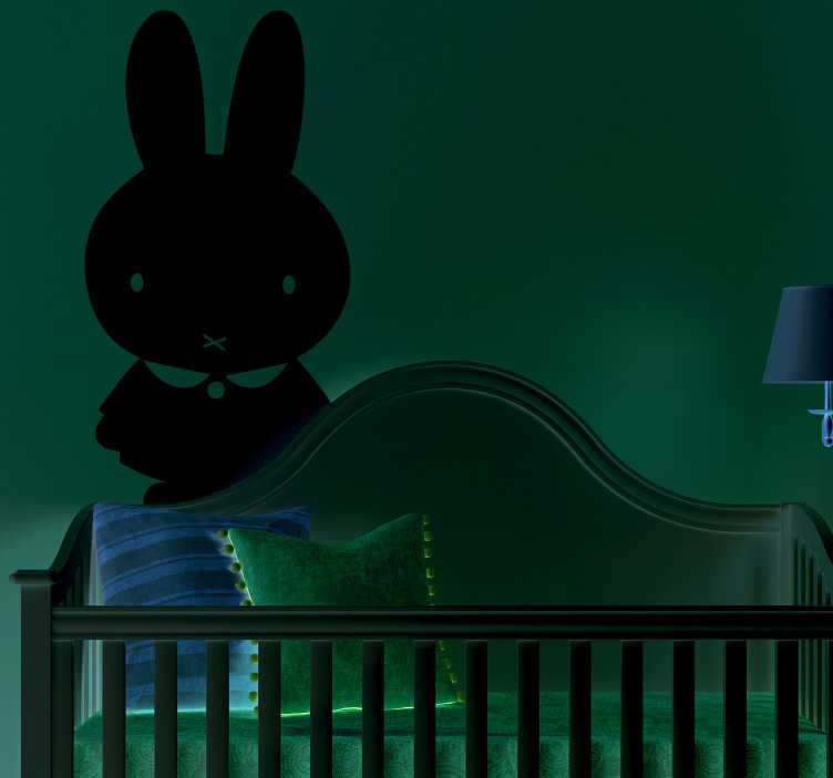 TenStickers. cute bunny  farm animal wall sticker babyroom. A nice Wall stickers baby room of this cute bunny wall sticker design. Wall stickers babyroom bunny is a nice idea for babies. Bunny wall decoration.