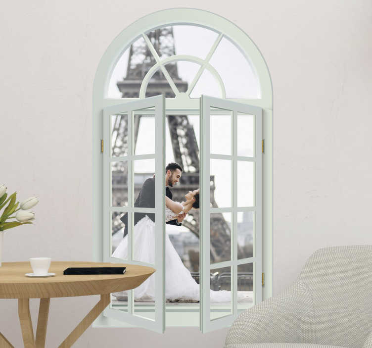 TenStickers. Window view  Living Room Wall Decor. Nice view wall stickers of a wall sticker window in the living room. Wall sticker painting and  painting wall stickers can be made in various sizes!