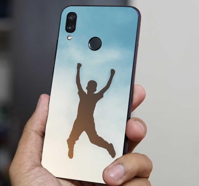 TenStickers. Personalized Huawei decal. An huawei phone vinyl decal with a bull dog design personalisable with any desired text. Easy to apply and highly durable.