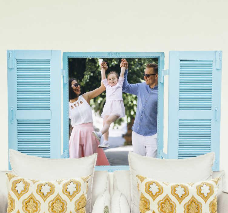 TenStickers. тропический пляж визуальные эффекты декор стен. Оригинальные визуальные эффекты виниловой наклейки с видом на пляж прямо из вашего окна. качественный матовый материал и доставка на дом!