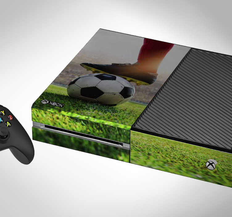 TenStickers. Football stadium (Xbox One slim) xbox sticker. Decorative vinyl Xbox skin sticker with the design football stadium in 3d effect. Buy it in the size that model correctly with your game console.