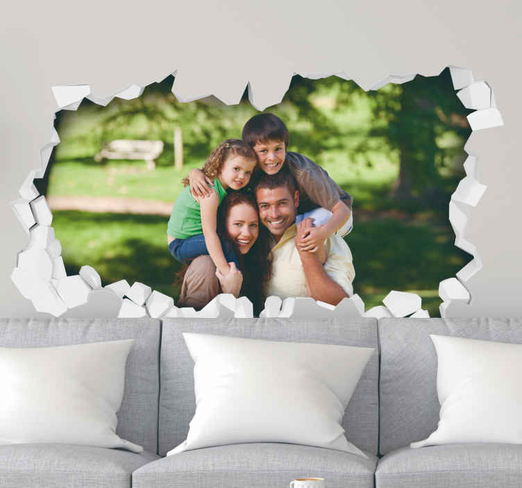 TenStickers. 3D Personalised Photo Wall Mural Sticker. Adorn your wall with a photograph that is important to you with this fantastic sticker! Sign up for 10% off.