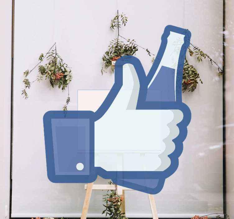 TENSTICKERS. ボトルウィンドウデカールのようなfacebook. この象徴的なfacebookビジネスウィンドウステッカーを使用して、facebookフォロワーにボトルの歓声をあげましょう。適用が簡単で高品質のビニール製。