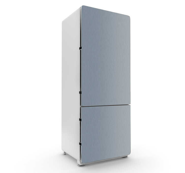 TenStickers. Steel Simulation Fridge Sticker. Fridge Stickers -Personalise your fridge with this steel texture design.