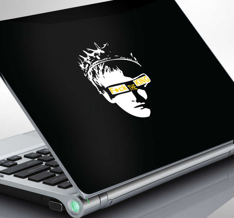 TenStickers. Sticker laptop fuck the king. Personaliseer de achterzijde van uw laptop met behulp van deze leuke laptop sticker gebaseerd op Game of Thrones.