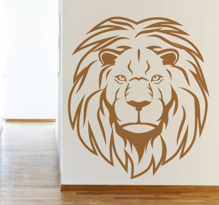 Vinilo retrato en línea león africano