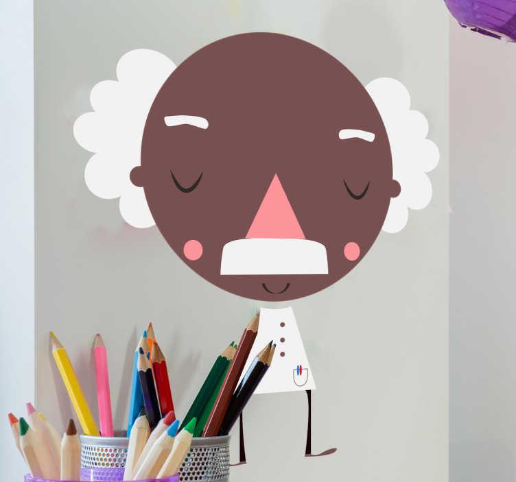 TenStickers. illustratie Albert Einstein. Iedereen kent hem wel de Albert Einstein! Hier zie je niet de typische foto´s van hem maar namelijk een getekende illustratie!
