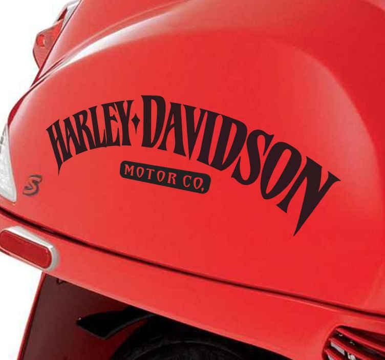 TenVinilo. Adhesivo Harley Davidson Motor Company. Vinilo decorativo monocolor con el logotipo de esta famosa marca americana de motocicletas Harley Davidson Motor Company.