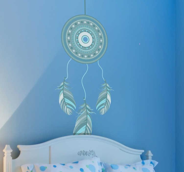 Naklejka niebieski łapacz snów