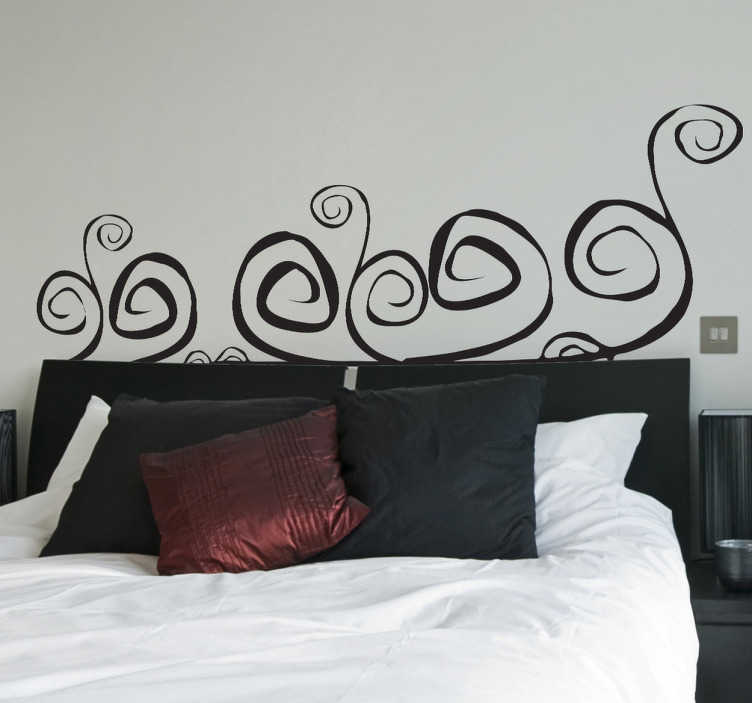 TenStickers. Winding Headboard Wall Decal. Headboards- Original and distinctive decoration feature above your bed. Abstract themed wall sticker available in 50 colours and various sizes.