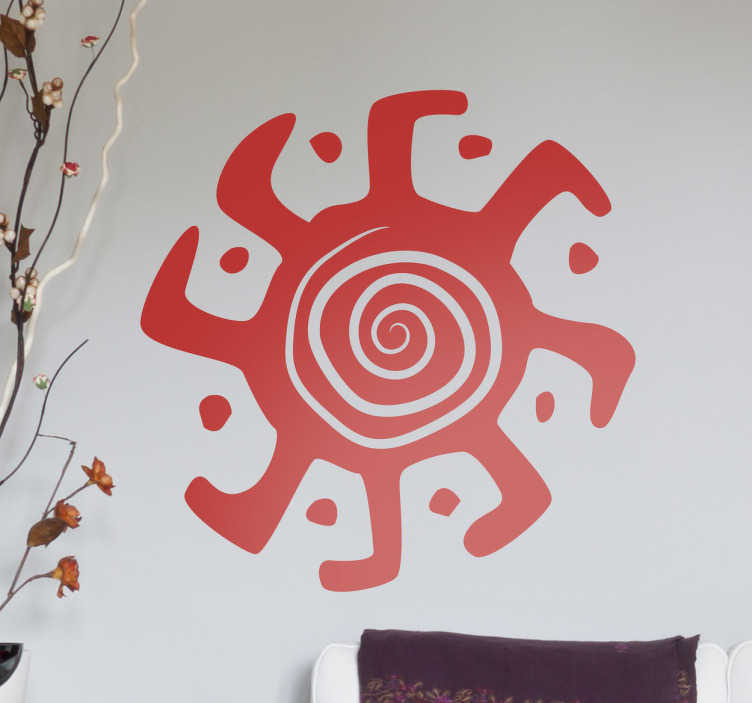 TenStickers. Kaleidoscope Spiral Wall Sticker. Add some style to your living room, lounge or bedroom with this Aztec icon design.