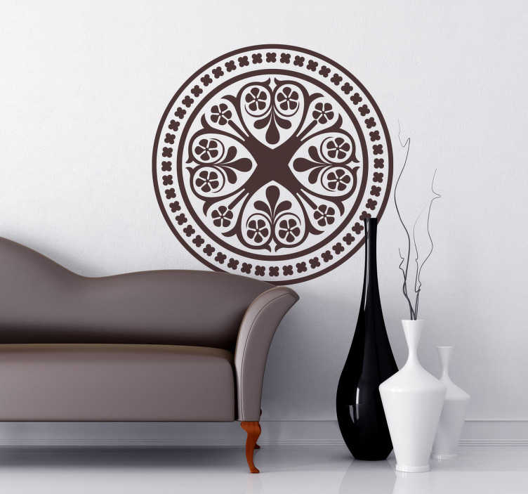 TenStickers. Celtic Rosette Mandala Wall Sticker. Wall Stickers. Decals - Symmetrical celtic mandala illustration. Decorate your home with a touch of colour and a mystical touch.