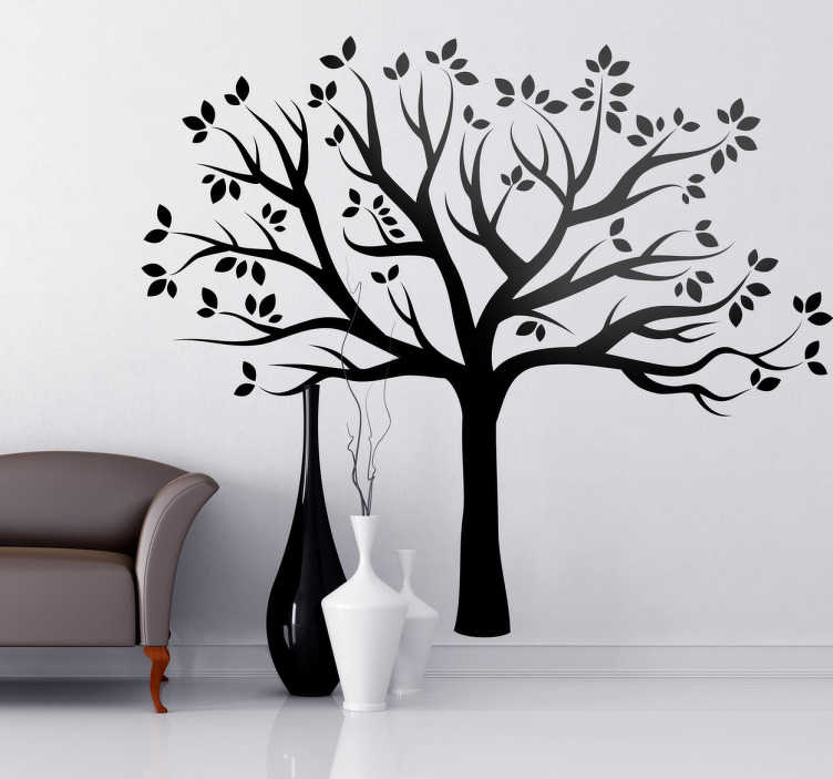 TenStickers. Silhouette Autumn Tree Wall Sticker. Tree Wall Stickers - Elegant monochrome design showing the silhouette of a tree; a versatile wall sticker that will add a subtle improvement to any room it is placed in. Bring some nature to the walls with this tree decal available in any sticker and size you could want!