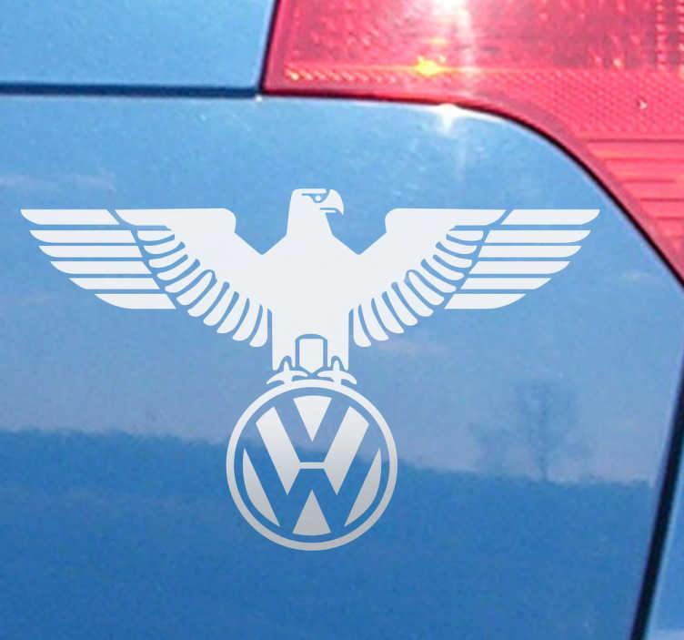 Sticker auto logo Volkswagen e l'aquila.