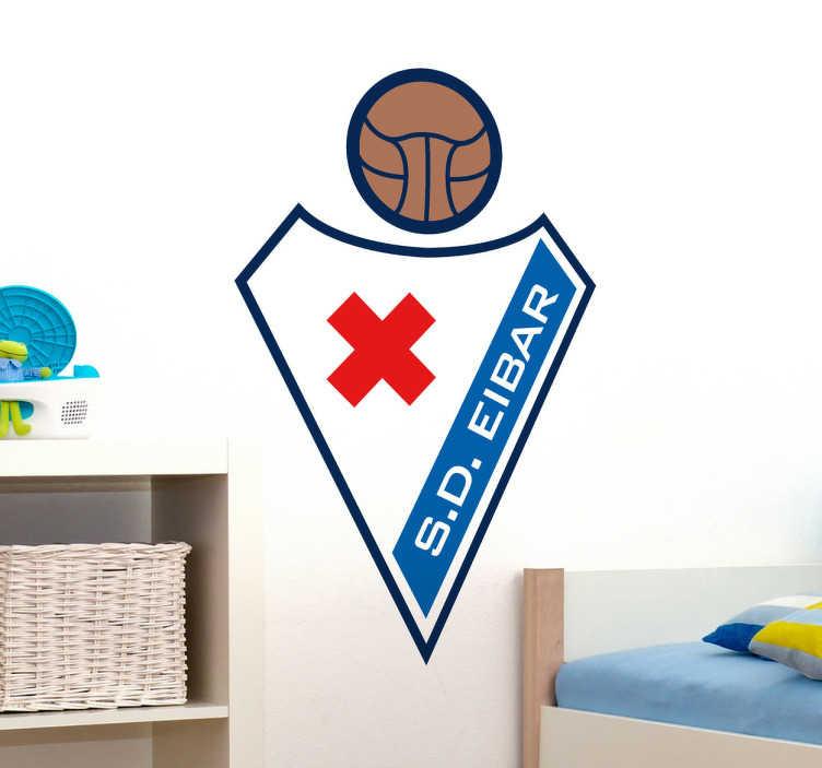 TenVinilo. Pegatina decorativa escudo Eibar. ?Adhesivo con el emblema característico de este histórico equipo vasco de fútbol.