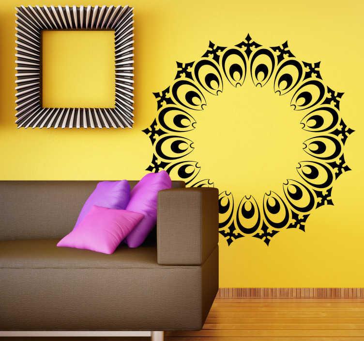 TenStickers. Wandtattoo dekorativer Adventskranz. Gestalten Sie Ihr Zuhause zu Weihnachten mit diesem schönen Wandattoo eines illustrierten Adventskranzes