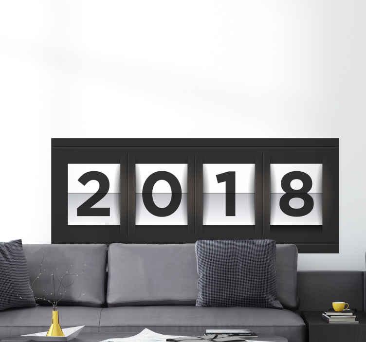 Vinilo decorativo letrero año nuevo