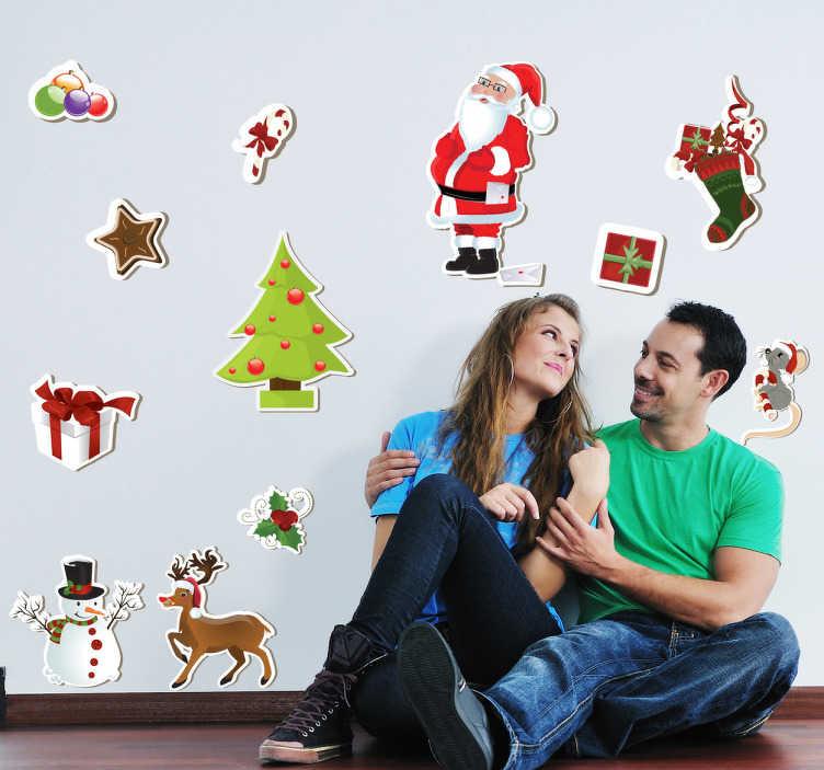 Vinilos navidad pegatinas recortables
