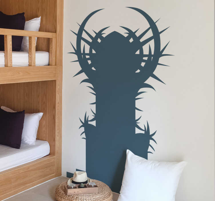 TenStickers. Game of Thrones Iron Throne Wall Sticker. Wall sticker of The Iron Throne from the hit series Game of Thrones. Ideal for fans of the series!