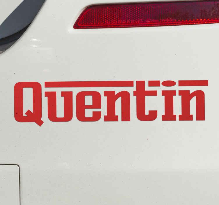 TenStickers. Sticker adesivo texto personalizável Ferrari. Sticker decorativo inspirado na fonte de texto utilizada pela Ferrari, em que pode personalizar o seu texto conforme o seu gosto!