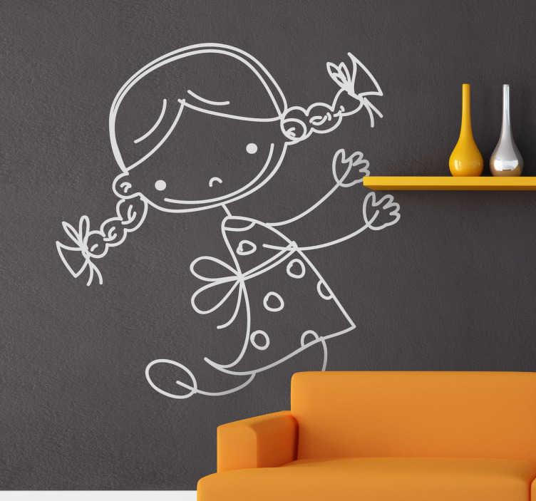 Sticker decorativo infantile bimba 30