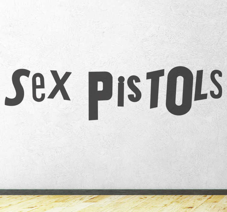 TenStickers. Sex Pistols Sticker. Mono-colour sticker with the renowned typography of this British punk band. Anti-bubble vinyl. Worldwide delivery available.