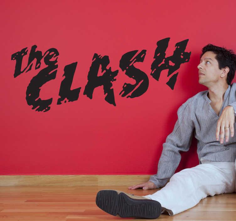 TenStickers. Sticker logo The Clash. Sticker monocolore pour les fans du groupe de musique punk londonien mené par Joe Strummer.