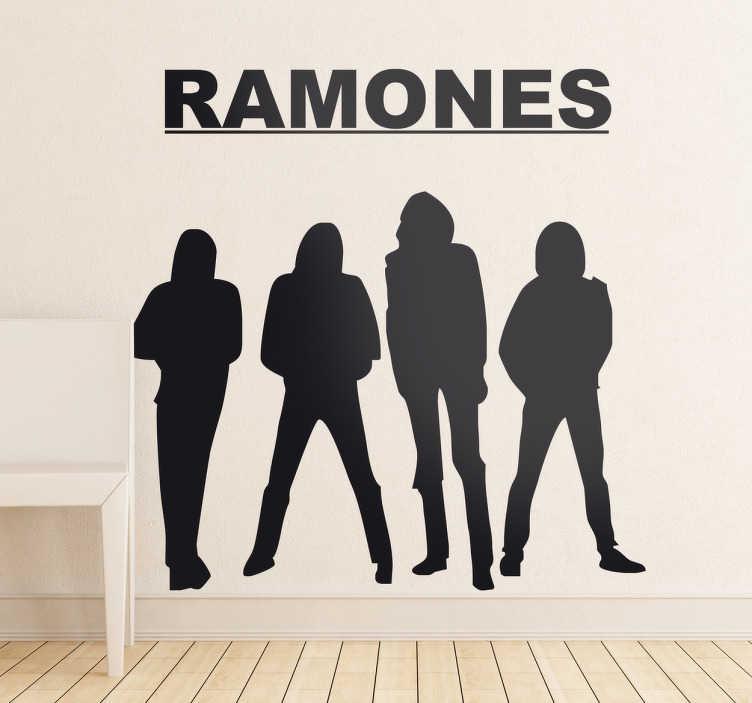 TenVinilo. Vinilo decorativo los Ramones. Escoge la medida y el color que deseas para decorar tu coche o tu habitación con el logo de tu banda punk favorita.