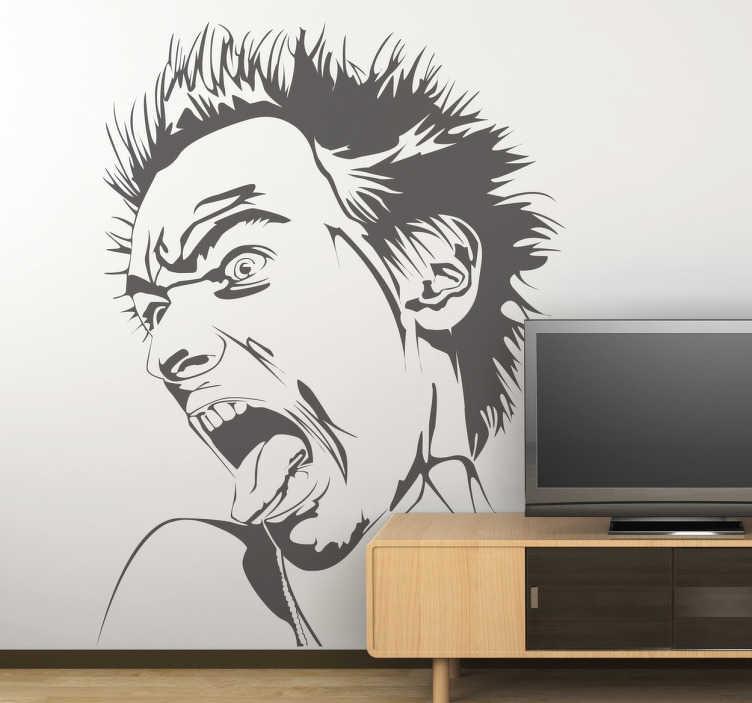 Vinilo decorativo retrato Johnny Rotten