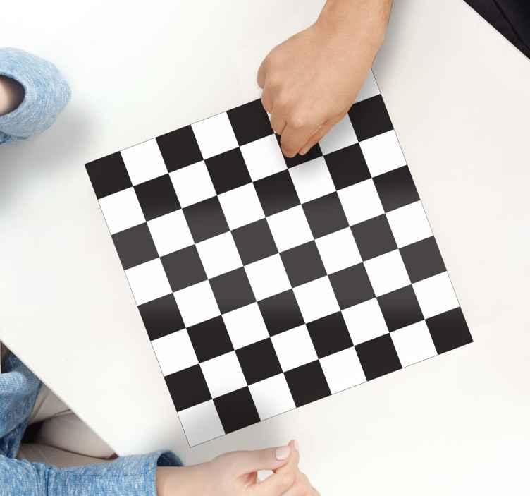 TenStickers. 国际象棋和西洋跳棋板贴纸. 棋盘游戏 - 游戏之夜的理想选择。棋盘主题贴花放在你的游戏桌上。