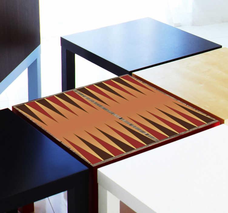 TenStickers. Backgammon board nálepka. Stolní hry - ideální prvek pro vaše herní noci backgammon board decal k umístění na herní stůl dostupný v různých velikostech, vyrobený z materiálu proti bublině a zanechává absolutně žádný zbytek, pokud je odstraněn.