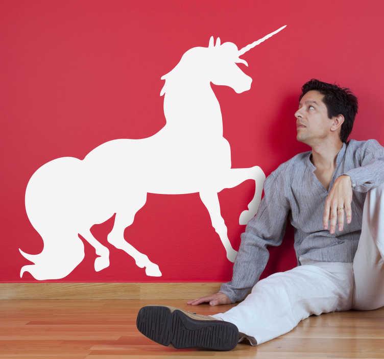 Stencil muro silhouette unicorno
