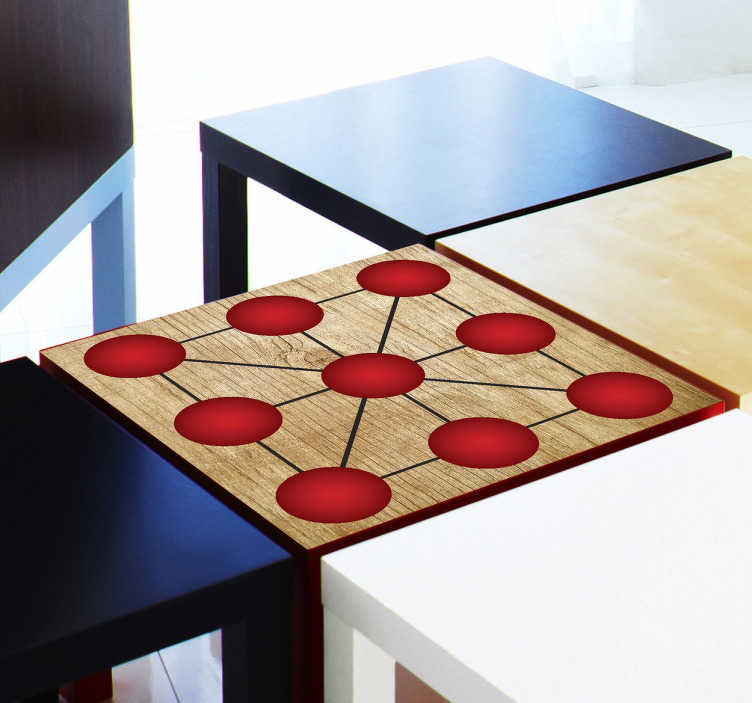 TenStickers. Tic Tac Toe Decorative Sticker. A classic game sticker that you can place on your furniture and play with your friends and family.
