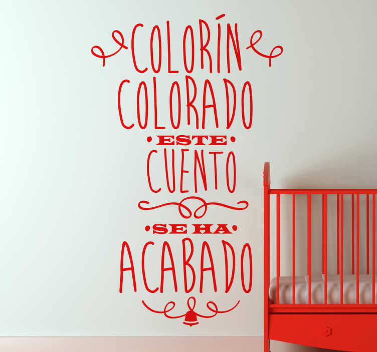 Vinilo infantil colorín colorado