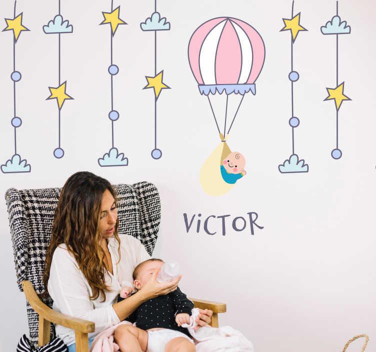 Naklejka dla dzieci podróż balonem